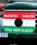 1956 Megemlékezés: A Mûegyetemtõl fáklyás felvonulás a Bem térre