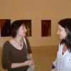 Fáj, Rovás-kiállítás, 2011. június - július. Enikő és Bea