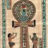"""A Krisztus előtti 3. évezredből származó óegyiptomi festett """"füles kereszt"""""""