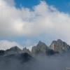 Időnként láthatóvá válik a hegy csúcsa