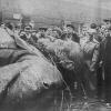 Sztálin szobrának ledöntése
