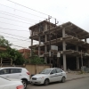 Facövekekkel sűrűn alátámasztva betonoznak
