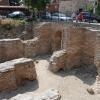 a bizánci fürdő romjai
