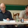 Czajlik József színigazgató és Forgács Miklós dramaturg a sajtótájékoztatón