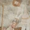 A kivégzés jelenete: Szent László hajánál fogva tartja a kivégzett, imádkozó kun harcos fejét