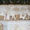 A Szent László-legenda középső része a templomhajó északi falán