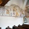 A képsor egésze a templom északi falán és a diadalív nyugati, hajó felé néző falán