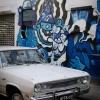 Veterán autó graffitivel