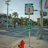 Innen indul a 1-es számú főút, ez a nulladik mérföld; New Yorkot érintve egész északra vezet...