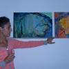 Zeley Mucza Viktória magyarázza műveit
