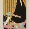 Adam Szentpétery: Kompozícia s čiernou meňavkou, akryl