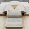 Egymásba lapozott szótárak a brazil pavilonban