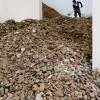 Törmelék a spanyol pavilonban