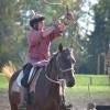 A lovasbemutató alkalmával végigkövethetőek honfoglaló eleink lovasjátékai