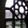 Kilátás a Budára és a Dunára a Pesti Vigadó ablakából