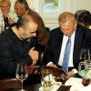 Szabó Ottó festőművész és Rudolf Schuster elnök