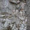 Lövedék becsapódásának a nyoma a sziklán