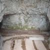Az ágyú helye a kaverna bejáratában