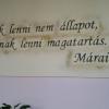 Márai-idézet a kassai Szakkay József Szakközépiskolában