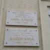 Emléktábla a Márai-emlékház homlokzatán
