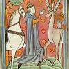 Ilustrácia sv. Huberta z 13. storočia