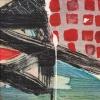 Rendeződés 2. – akryl, farost 30x30 cm