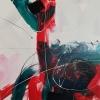 Vandorló érzelmek 14. – akryl, vászon, 80x80 cm